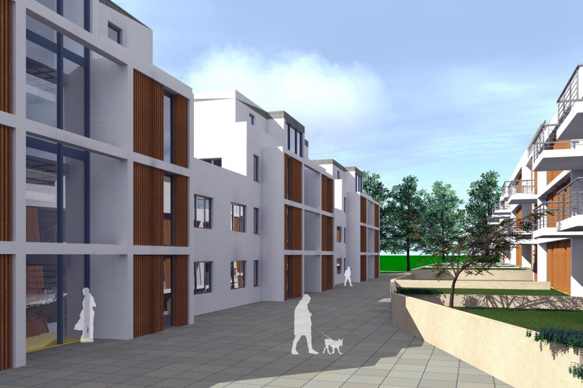 Wohnbebauung mit 100 Wohneinheiten